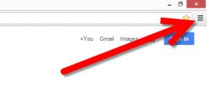 Click the Chrome menu button