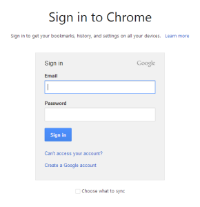 Enter your Google account info