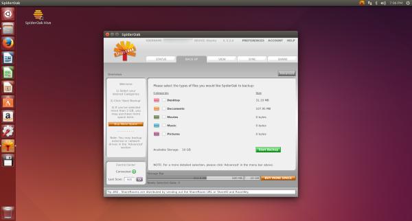 SpiderOak on Ubuntu